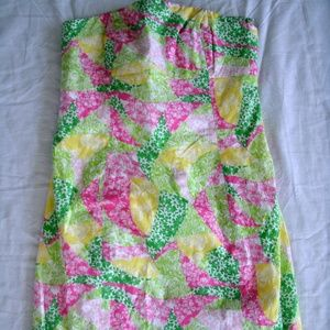 Lilly Pulitzer Dress Wing Ding Patch Franco Size 0